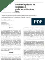 Comparação da acurácia diagnóstica da laparoscopia, histeroscopia e histerossalpingografia na avaliação da infertilidade feminina