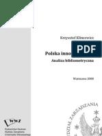 Krzysztof Klincewicz 2008, Polska Innowacyjnosc Analiza Bibliometryczna