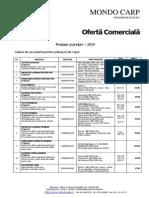 Oferta Mondo Carp 2014