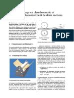 Traçage en Chaudronnerie Et Tuyauterie_Raccordement de Deux Sections