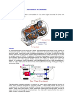Transmission in Automobile