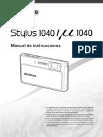 Stylus 1040 Mju 1040 Manual de Instrucciones ES