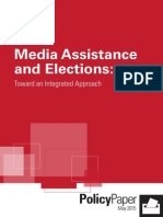 Media Assistance and Elections Toward an Integrated Approach PDF
