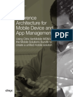Reference Architecture for Mobile Device and App Management