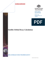Satellite Orbital Decay Calculations