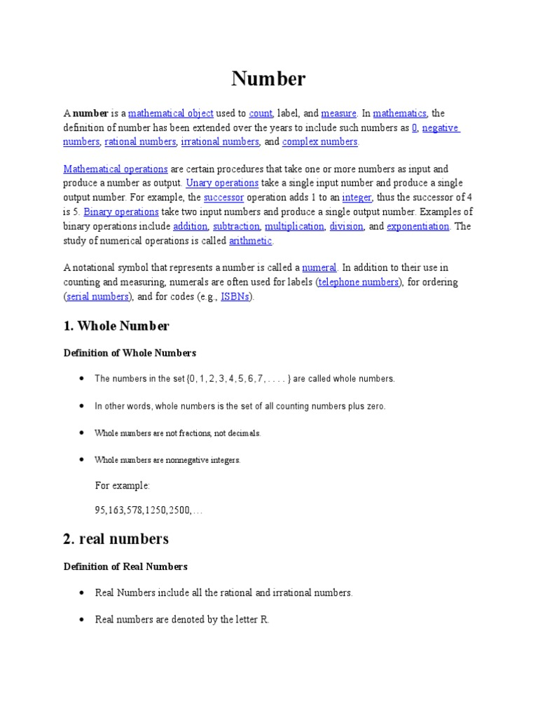 Numberoperation In Math Division Mathematics Fraction
