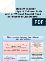 The Student-Teacher Relationships of Children Both With Or