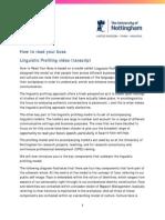 1.6 the Linguistic Profiling Model