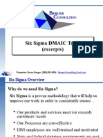 Berger Consulting 3.1b Six Sigma DMAIC Training Overview Excerpts-3!19!09