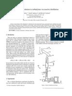 Tert-Butanol Dehydration to Isobutylene via Reactive Distillation