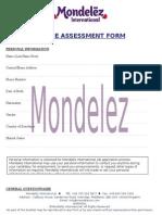 MONDELEZ INTERNATIONAL ONLINE ASSESSMENT FORM.doc