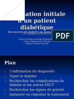 Evaluation Initiale d'Un Patient Diabétique