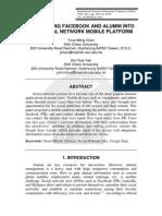 INTEGRATING FACEBOOK AND ALUMNI INTO  THE SOCIAL NETWORK MOBILE PLATFORM