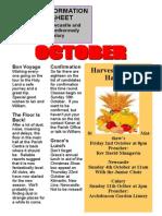 Newcastle Parish News, Wicklow October 2015
