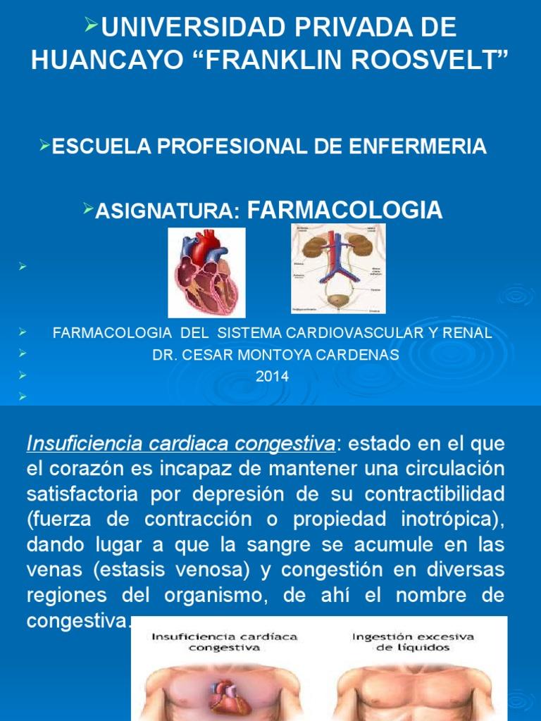 farmacologia del sistema cardiovascular y renal