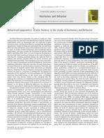 Behavioral Epigenetics - A New Frontier in the Study of Hormones and Behavior