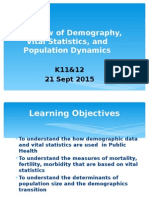 11_12. Intro Vital Stats Demography Population Dynamics