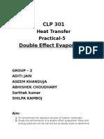 Double Effect Evaporator