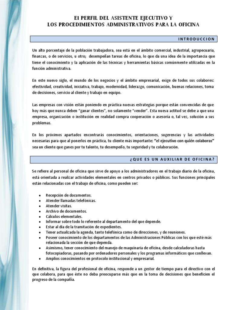 Magnífico Reanudar Tareas De Asistente Ejecutivo Festooning ...
