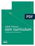 adult literacy core curriculum
