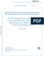 He Inter-linkages Between Rapid Growth in Livestock Production