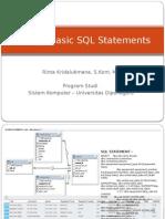 P5 - Writing Basic SQL Statments