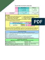 Formulas Para Calcular La Sección
