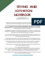 Goal Setting Notebook