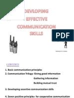 Devloping Effective Communication Skills