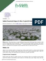 Inilah Penyebab Hujan Es Bisa Terjadi Di Indonesia _ Rihoen