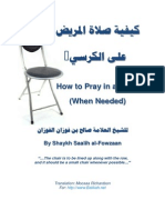 How to Pray in a Chair When Needed