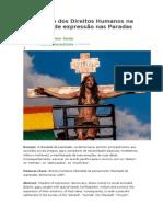 A Proteção Dos Direitos Humanos Na Liberdade de Expressão Nas Paradas LGBTs