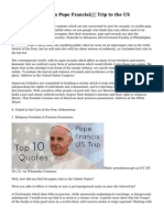 Top 10 Quotes from Pope Francis' Trip to the US
