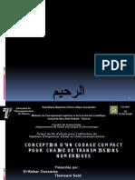 Conception Dun Codage Compact Pour Chaine de Transmissions Numériques