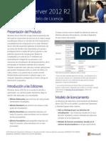 Windows Server 2012 R2 Licensing Datasheet Es-es