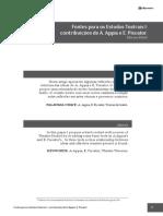 4 Fontes Para Os Estudos Teatrais I - Contribuicoes de a Appia e E Piscator