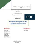 Le Controle de Gestion Et Le Système D_information