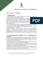 El Codigo Civil y Comercial y Las Relaciones de Familia