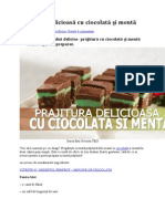 Prăjitură Delicioasă Cu Ciocolată Și Mentă