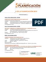 Programa Semana Planificacion 2015 y Convocatoria 61 Asamblea df3561e06b496