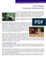 Factsheet Chcadburyocolate Manufacture