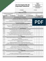 Formato Inspeccion Seguridad Industrial Sehoca 2015