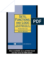 Sets, Functions and Logic-An Introdcution to Abstract Mathematics