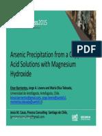 Precipitación de arsénico desde PLS