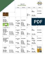 MLC 2015 October Calendar