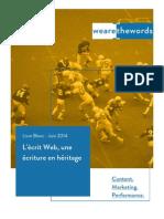 L'Écrit Web, Une Écriture en Heritage