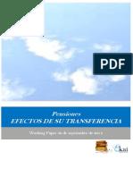 Pensiones. EFECTOS DE SU TRANSFERENCIA