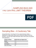 3_Sampling, Sampling Bias the Central Limit Theorem