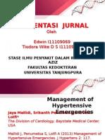 Journal Management of Hypertensive Emergencies