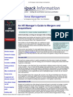 An HR Manager's Guide to Mergers and Acquisitions